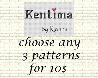 SALE - Cross Stitch Patterns Special Offer - Choose any 3 Patterns for 10 US dollars  - special deal - patterns bundle