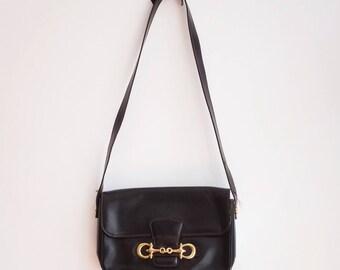 Gucci style horsebit leather vintage bag purse handbag
