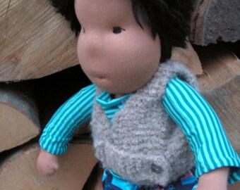 Ready to ship: 18 inch waldorf doll, large waldorf doll, steiner baby boy doll, cloth doll, doll for boy, waldorf boy doll, steiner boy doll