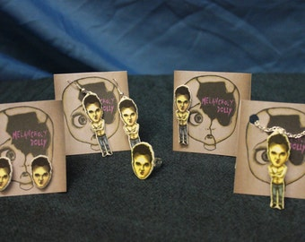 Morrissey/ The Smiths Inspired Jewellery- Earrings, Pin Badge, Hair Slide, Ring, Necklace, Pendant (Hook/Stud, Size Adjustable) Valentines