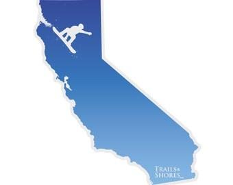 California Snowboarding Decal