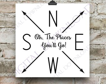 Oh The Places You Will Go Decal Etsy