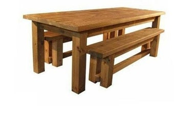 Rustic Plank Furniture New New Real Solid Wood Sawn Chunky Indigo Plank  Furniture Dining Table And