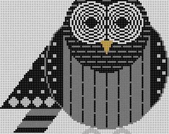 Barred Owl Needlepoint Pattern
