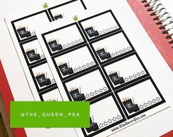 Luxury Movie Night Planner Stickers