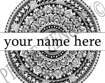 Mandala Name Wall Art