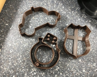 Police Themed Cookie Cutter Set