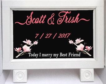 Chalkboard Sign - Wedding Chalkboard Sign - Wedding Decor - Standing Chalkboard - Best Friend