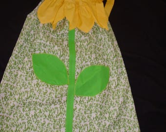 Sunflower Pillowcase dress, size 3T