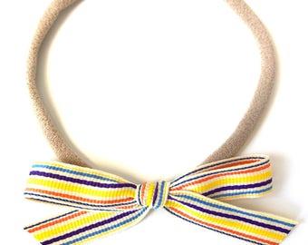 Ribbon bow || Vintage rainbow