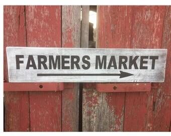 Farmers Market Sign, Fixer-Upper, Farmhouse farmers Market sign