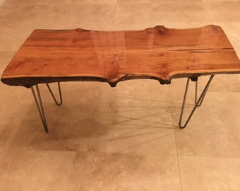 Rustic Live Edge Maple coffee table