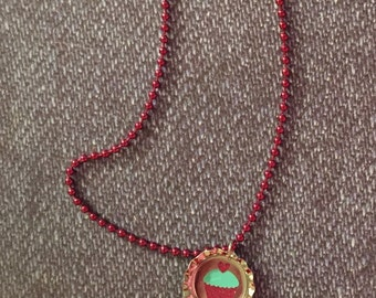 Cute child's cupcake necklace