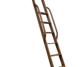 Custom ladder – customized ladder – oak ladder – loft ladder – library ladder – interior ladder - stained ladder