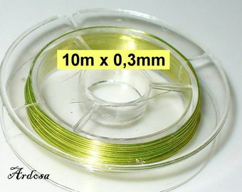 10 meters of copper wire Green 0, 3 mm (1030.4)