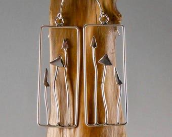 hedgerow sterling silver earrings