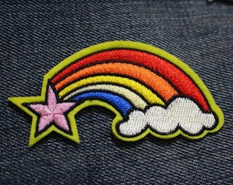 Rainbow Iron-on Patch  (3 x 1.5 inch)