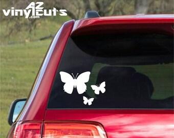 Triple Butterfly Decal