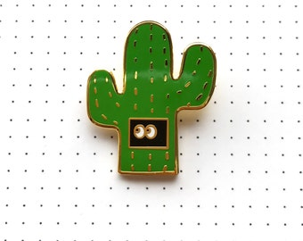 Introverted Cactus- Hard Enamel Pin- Lapel Pin - Backpack Pin