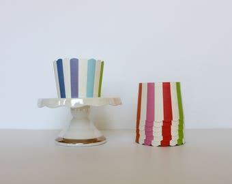 Rainbow Stripe Treat Cups / Rainbow Treat Cups / Treat Cups / Baking Cups / Rainbow / Rainbow Party