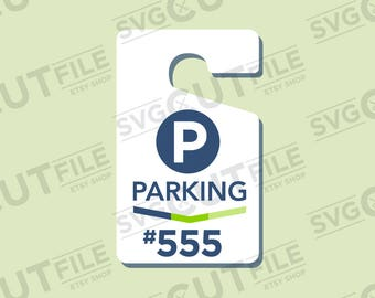Parking pass svg parking permit placard hang tags - Resizable and Scalable printable hang tag parking permits