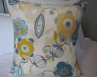 Blues.Yellow Golds.Creams.PIllow Covers.Slip Covers.Pillow Cases.Summer Home Decor.Spring Home Decor.