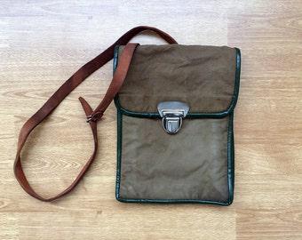 Vintage canvas bag Distressed messenger bag Crossbody bag Officer's bag iPad case iPad cover Mans bag Military bag Gift for him or her