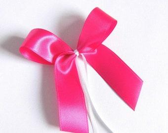 Grinding pink 4er set wedding sanding Dekoschleifen Kranzdeko florist Deco loop decode ribbon craft supplies