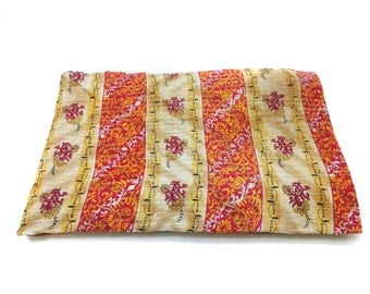 Kantha Quilt Indian Cotton Bedspread ,Bedding ,bed cover, twin size bedding ,twin coverlet
