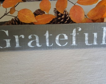 Farmhouse Decor, Grateful Sign, Country Home Decor, Country Sign, Home Decor, Rustic Decor, New Home, Gift Ideas, Grateful, Wood Sign