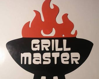 Grill Master Vinyl Decal
