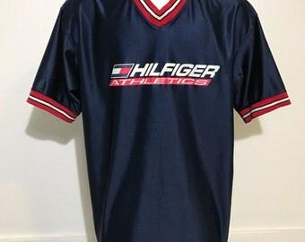 Vintage Tommy Hilfiger Athletics Warm Up Shirt L