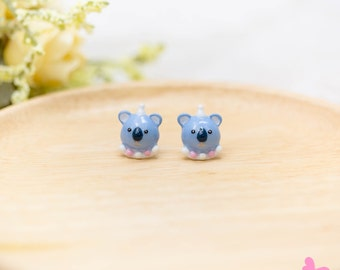 Lovely Cute Hand Painting Enamel Koala Elephant Earrings (With Luxury Gift Box from Boutique)