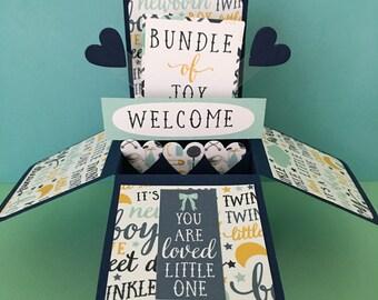 New Baby Boy Handmade Box Card