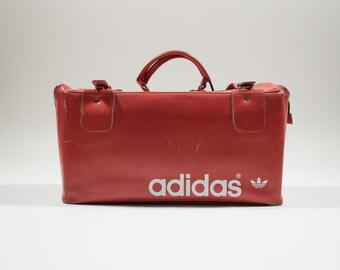 ADIDAS - Leather duffel bag