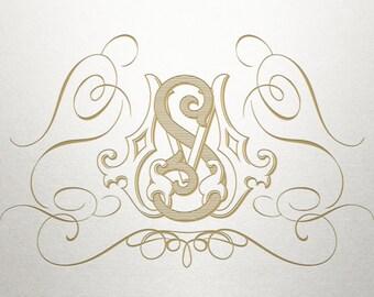 Elegant Swirl Design  - Roswell Swirls -  Elegant Swirl - Digital
