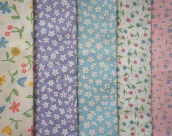 Baby Talk by Sandy Gervais for Moda Fabrics - Fat Quarter Bundle - 5 pieces