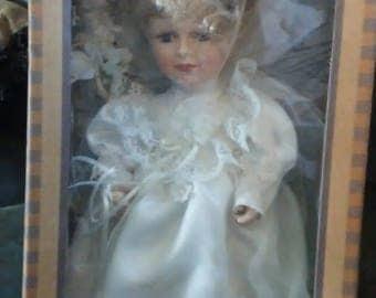 Vintage Porcelain Wedding Doll, (# 1105/83)