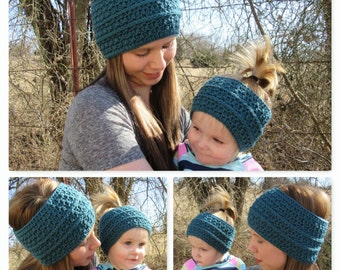 Crochet Ear Warmers/Mommy & Me Ear Warmers/Mother Daughter Sets/Toddler Ear Warmer/Women's Ear Warmer/Baby Ear Warmers/Winter Hat/Crochet