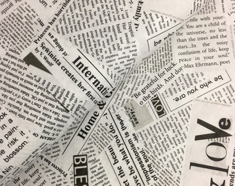 Newsprint from the Story Collection by Carrie Bloomsten for Windham Fabrics - Newspaper Text, Dreamer