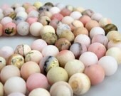 """Matte Pink Opal Round Loose Bead Size 6mm/8mm/10mm/12mm 15.5"""" Per Strand.R-M-OPA-0325"""