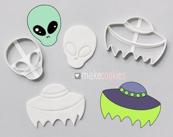 Alien Cookie Cutter Set