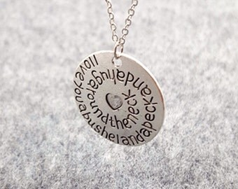 Silver Necklace Sentiment Style Saying on an 18 Inch Chain