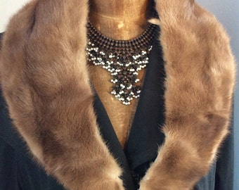 Vintage unused mink fur collar