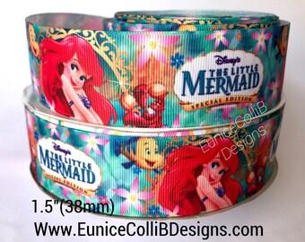 """1.5""""Little mermaid inspired ribbon"""