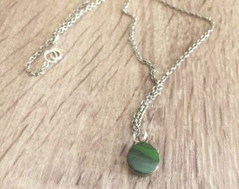 Marbled Necklace Green