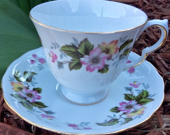 Pretty Pink Addiction-Sweet Simplicity Queen Anne Footed Teacup and Saucer