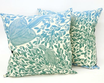 Large cushion cover - Sugar Glider Eating Flowers by Graham Badari