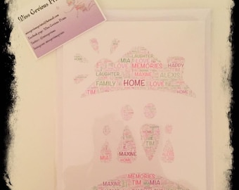 Personalised New Home 2 Greeting Card