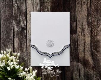 Wedding Invitation | Custom invitations | Unique invitations | Wedding stationery | Elegant invites -Graceful Ivory Pocket